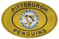 "Pittsburgh Penguins 46"" Heritage Logo Oval Sign"