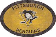 """Pittsburgh Penguins 46"""" Team Color Oval Sign"""