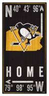 "Pittsburgh Penguins 6"" x 12"" Coordinates Sign"
