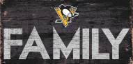 """Pittsburgh Penguins 6"""" x 12"""" Family Sign"""