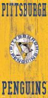 "Pittsburgh Penguins 6"" x 12"" Heritage Logo Sign"
