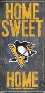 """Pittsburgh Penguins 6"""" x 12"""" Home Sweet Home Sign"""