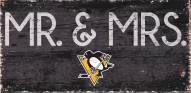"Pittsburgh Penguins 6"" x 12"" Mr. & Mrs. Sign"