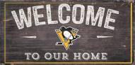 """Pittsburgh Penguins 6"""" x 12"""" Welcome Sign"""