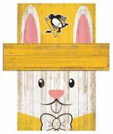 """Pittsburgh Penguins 6"""" x 5"""" Easter Bunny Head"""
