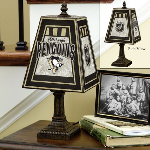 Pittsburgh Penguins Art Glass Table Lamp