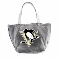 Pittsburgh Penguins Black NHL Vintage Tote Bag