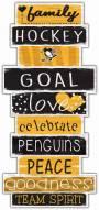Pittsburgh Penguins Celebrations Stack Sign
