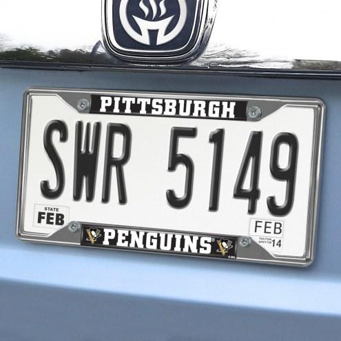 Pittsburgh Penguins Chrome Metal License Plate Frame