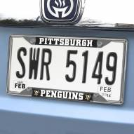 Pittsburgh Penguins Chrome Metal License Plate Frame