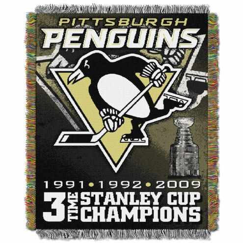 Pittsburgh Penguins Commemorative Champs Throw Blanket