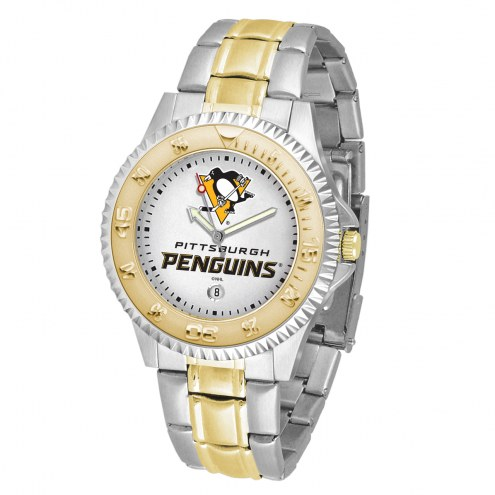 Pittsburgh Penguins Competitor Two-Tone Men's Watch