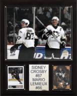 """Pittsburgh Penguins Crosby-Lemieux 12"""" x 15"""" Player Plaque"""