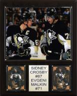 """Pittsburgh Penguins Crosby-Malkin 12"""" x 15"""" Player Plaque"""