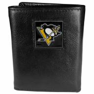 Pittsburgh Penguins Deluxe Leather Tri-fold Wallet in Gift Box