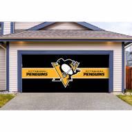 Pittsburgh Penguins Double Garage Door Cover