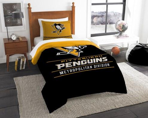 Pittsburgh Penguins Draft Twin Comforter Set