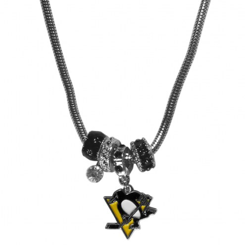 Pittsburgh Penguins Euro Bead Necklace