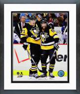 Pittsburgh Penguins Evgeni Malkin & Kris Letang Framed Photo