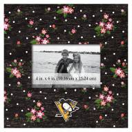 """Pittsburgh Penguins Floral 10"""" x 10"""" Picture Frame"""