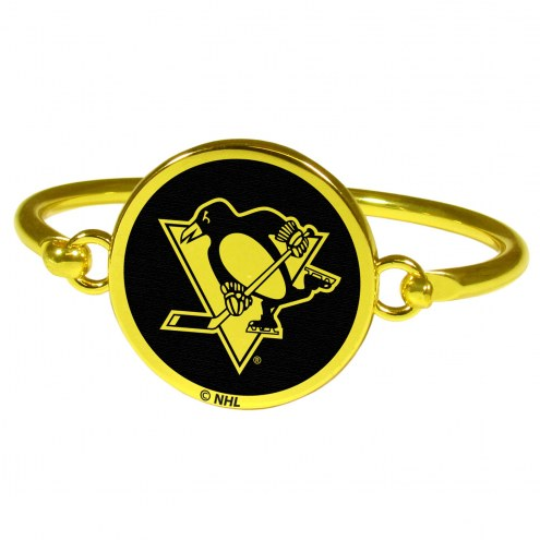 Pittsburgh Penguins Gold Tone Bangle Bracelet