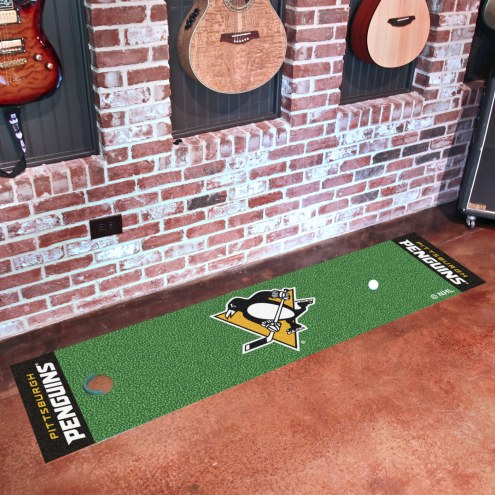 Pittsburgh Penguins Golf Putting Green Mat