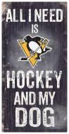 Pittsburgh Penguins Hockey & My Dog Sign