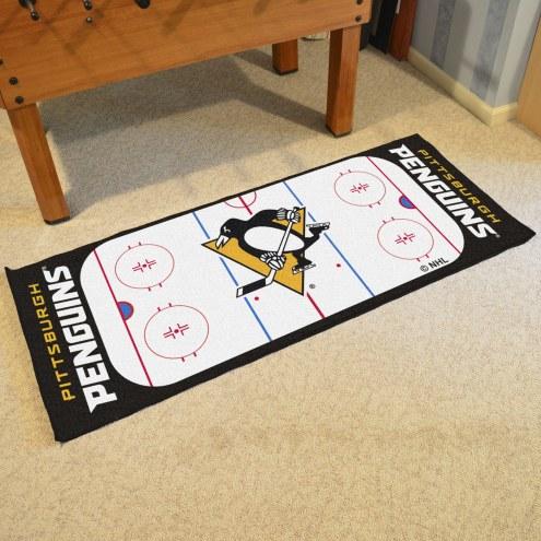 Pittsburgh Penguins Hockey Rink Runner Mat