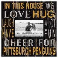 """Pittsburgh Penguins In This House 10"""" x 10"""" Picture Frame"""