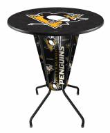 Pittsburgh Penguins Indoor Lighted Pub Table