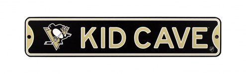 Pittsburgh Penguins Kid Cave Street Sign