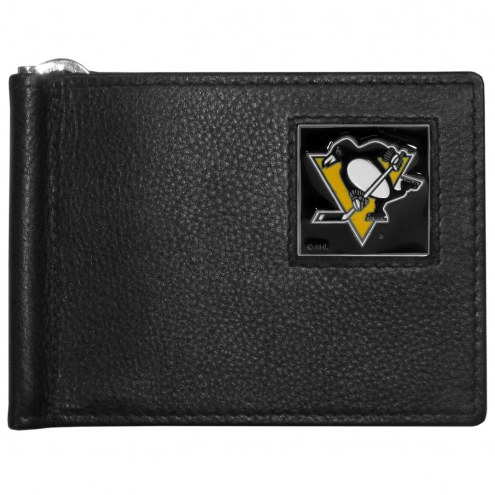 Pittsburgh Penguins Leather Bill Clip Wallet