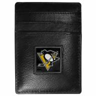 Pittsburgh Penguins Leather Money Clip/Cardholder in Gift Box