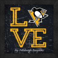 Pittsburgh Penguins Love My Team Color Wall Decor