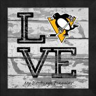 Pittsburgh Penguins Love My Team Square Wall Decor