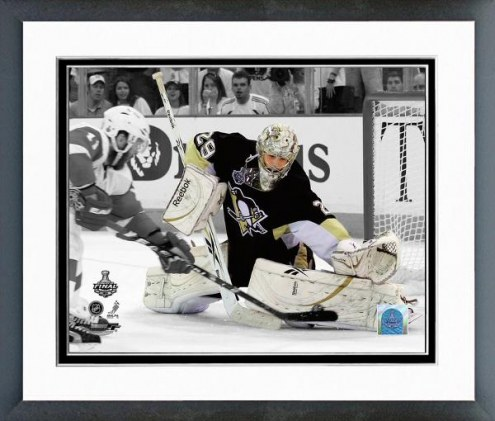 Pittsburgh Penguins Marc-Andre Fleury Stanley Cup Spotlight Framed Photo