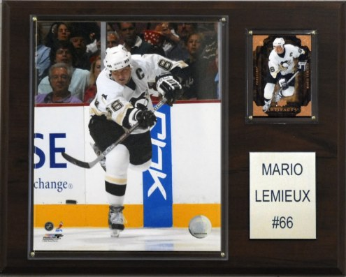"Pittsburgh Penguins Mario Lemieux 12"" x 15"" Player Plaque"