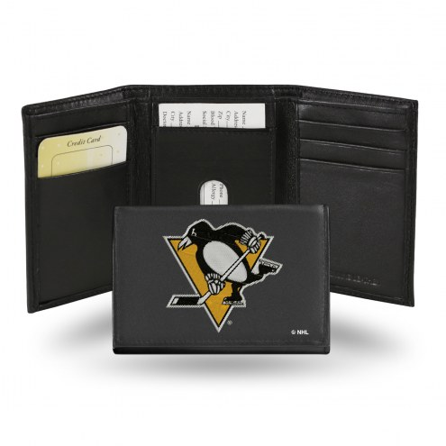 Pittsburgh Penguins NHL Embroidered Leather Tri-Fold Wallet