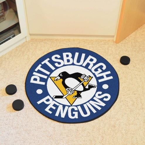 Pittsburgh Penguins NHL Hockey Puck Mat