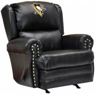 Pittsburgh Penguins Leather Coach Recliner