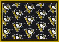 Pittsburgh Penguins NHL Repeat Area Rug