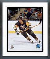 Pittsburgh Penguins Phil Bourque Action Framed Photo