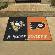 Pittsburgh Penguins House Divided Mat