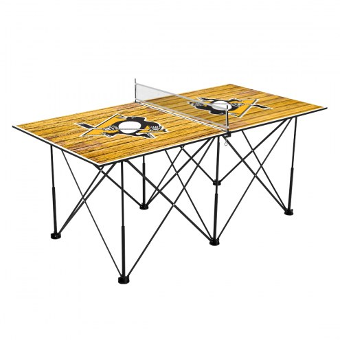Pittsburgh Penguins Pop Up 6' Ping Pong Table