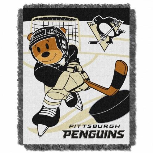 Pittsburgh Penguins Score Baby Blanket