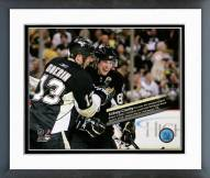 Pittsburgh Penguins Sidney Crosby 500th Career Point Overlay Framed Photo