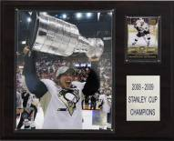 """Pittsburgh Penguins Sidney Crosby with Stanley Cup 12"""" x 15"""" Player Plaque"""