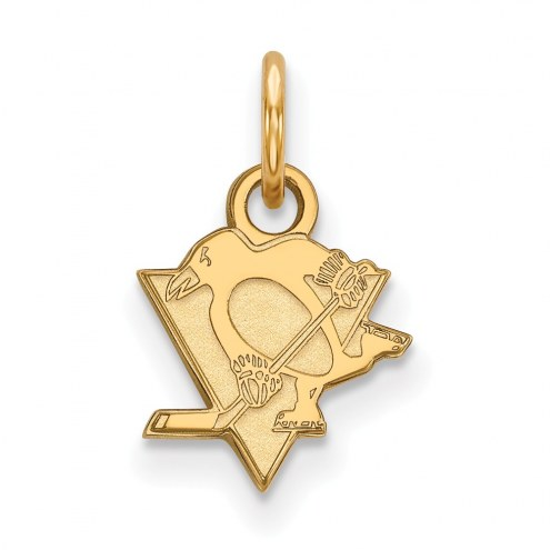 Pittsburgh Penguins Sterling Silver Gold Plated Extra Small Pendant