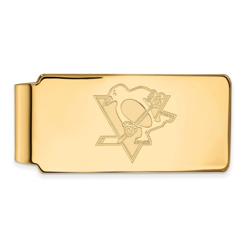 Pittsburgh Penguins Sterling Silver Gold Plated Money Clip