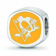 Pittsburgh Penguins Sterling Silver Logo Bead